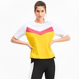 Camiseta PUMA XTG en colores combinados para mujer, Sulphur, pequeño