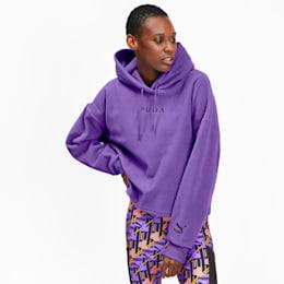 PUMA XTG Damen Fleece Hoodie, Purple Glimmer, small