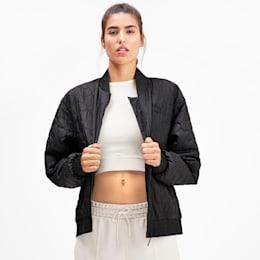 Woven Women's Bomber Jacket, Puma Black, small
