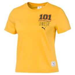 PUMA x SUE TSAI Damen Kurzes T-Shirt, Daffodil, small