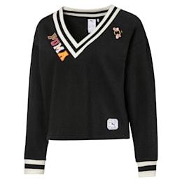 PUMA x SUE TSAI Knitted V-neck Women's Sweater