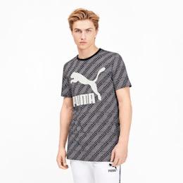 Classics Men's Graphic AOP Tee, Puma Black-repeat logo, small
