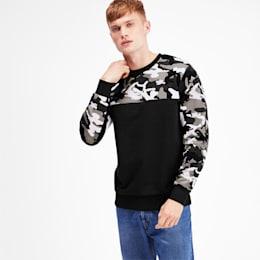 Classics Men's Placement Print Crewneck Sweatshirt, Puma Black, small