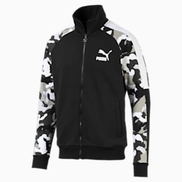 T7 Men's AOP Track Jacket, Puma Black, small