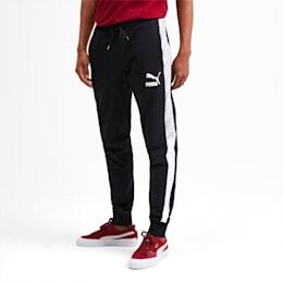 T7 Men's AOP Track Pants, Puma Black-Repeat logo, small