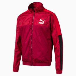 T7 Men's AOP Track Jacket, Rhubarb-Repeat logo, small