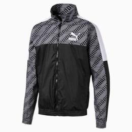 T7 Men's AOP Track Jacket, Puma Black-Repeat logo, small