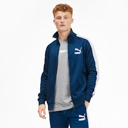 Iconic T7 Men's Track Jacket, Gibraltar Sea, small