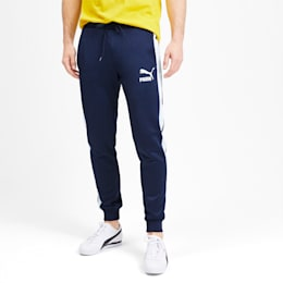 Iconic T7 Knitted Men's Track Pants, Peacoat, small