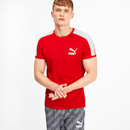 Iconic T7 Men's Tee, High Risk Red, small
