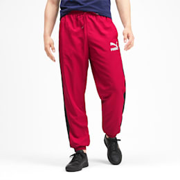 Iconic T7 Men's Woven Track Pants, Rhubarb, small