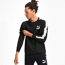 Ikonisk T7 rundhalset herresweater, Puma Black, small