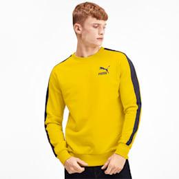 Iconic T7 Crew Neck Men's Sweater, Sulphur, small