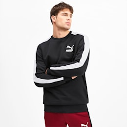 Iconic T7 Crew Neck Men's Sweater, Puma Black, small