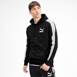 Iconic T7 Men's Fleece Hoodie, Puma Black, small
