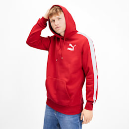 Iconic T7 Men's Fleece Hoodie, High Risk Red, small
