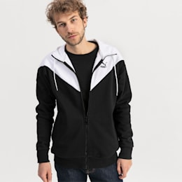 Iconic MCS Full Zip Men's Hoodie, Puma Black, small
