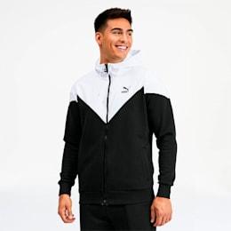 Iconic MCS Men's Full Zip Hoodie, Puma Black, small