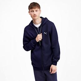 Epoch Long Sleeve Full Zip Men's Hoodie, Peacoat, small