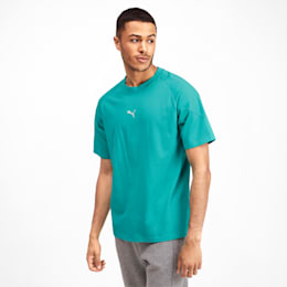 Epoch Men's Tee, Blue Turquoise, small