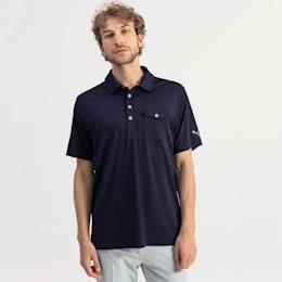 ゴルフ ドニゴール ポロシャツ, Peacoat, small-JPN