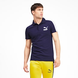 Iconic T7 Men's Polo Shirt, Peacoat, small