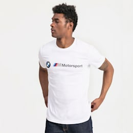 BMW M Motorsport Logo Men's Tee, Puma White, small