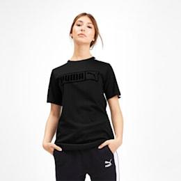 Camiseta Classics No.2 T7 para mujer, Puma Black, pequeño