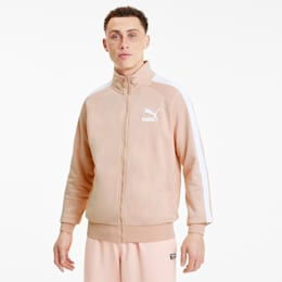 Iconic T7 Men's Track Jacket, Pink Sand, small