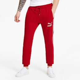 Iconic T7 Men's Track Pants, High Risk Red, small-SEA