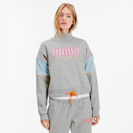 PUMA x SOPHIA WEBSTER Crew Women's Sweater, Light Gray Heather, small