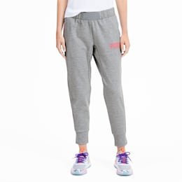 PUMA x SOPHIA WEBSTER Knitted Women's Sweat Pants, Light Gray Heather, small