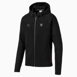 Ferrari Hooded Men's Sweat Jacket, Puma Black, small-IND