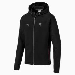 Ferrari Hooded Men's Sweat Jacket, Puma Black, small-SEA