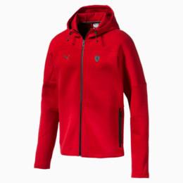Ferrari Hooded Men's Sweat Jacket, Rosso Corsa, small-IND