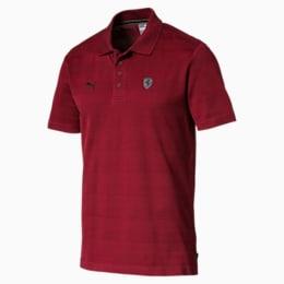 Ferrari Striped Men's Polo Shirt, Rhubarb, small-IND