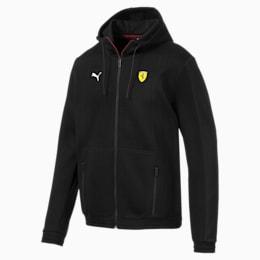 Ferrari Hooded Men's Sweat Jacket, Puma Black, small-IND