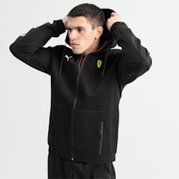 Ferrari Hooded Men's Sweat Jacket, Puma Black, small