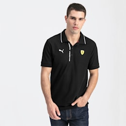 Ferrari Men's Polo Shirt, Puma Black, small-SEA