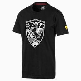 フェラーリ ビッグシールド Tシャツ + 半袖, Puma Black, small-JPN