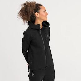 Ferrari Hooded Women's Sweat Jacket, Puma Black, small