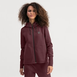 Ferrari Hooded Women's Sweat Jacket, Vineyard Wine, small