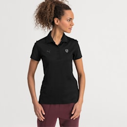 Ferrari Women's Polo Shirt, Puma Black, small