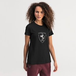 T-shirt Ferrari Big Shield para mulher, Puma Black, small