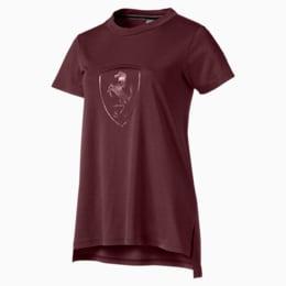 T-shirt con stemma grande Ferrari donna