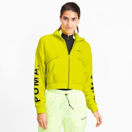 Chase Woven Women's Jacket, Yellow Alert, small
