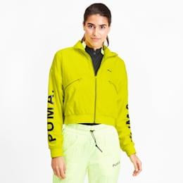 Chase Women's Woven Jacket, Yellow Alert, small