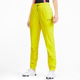 Pantaloni da donna in tessuto Chase, Yellow Alert, small