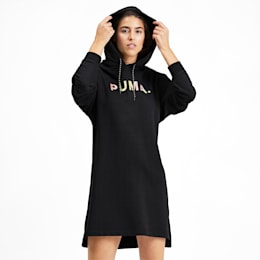 Chase Women's Hooded Dress, Puma Black, small