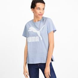 Camiseta Classics con logotipo para mujer, Heather, pequeño